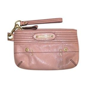 Juicy Couture Blush Pink Leather Clutch